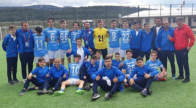 Rize Belediyespor U15, Bölge Şampiyonu oldu