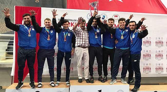 RTEÜ Güreş Takımı Türkiye Şampiyonu oldu