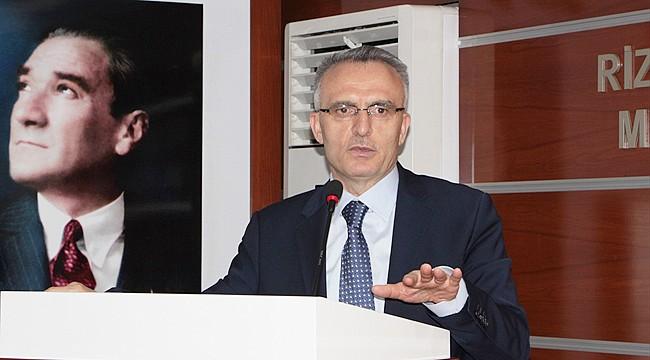 Maliye Bakanı Naci Ağbal Rize'de
