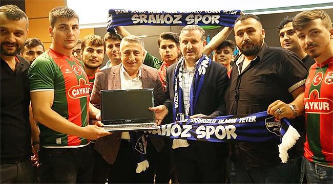 Rize'de Amatör Spor Kulüplerine yardım yapıldı