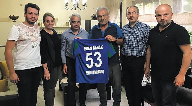 Başkan Yardımcı'dan Eren Başak'ın ailesine taziye ziyareti