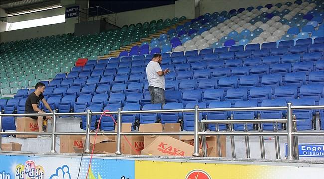 Çaykur Didi Stadının koltukları yenileniyor