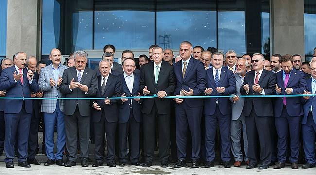 Cumhurbaşkanı Erdoğan Ramada Otel'in açılışını yaptı
