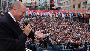 Cumhurbaşkanı Erdoğan Rize'de hemşehrilerine seslendi