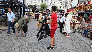 Rize'de çöp toplama etkinliği düzenlendi