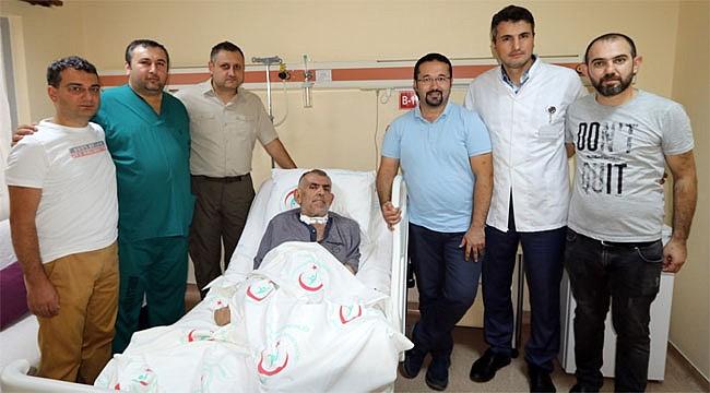Aort damarı yırtık hasta Rize'de sağlığına kavuştu