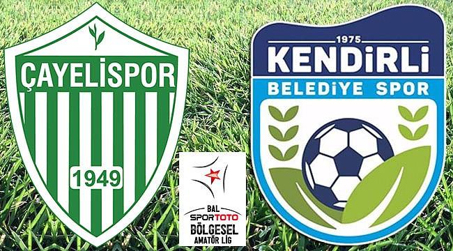 Çayelispor ve Kendirlispor 3-1 mağlup ayrıldılar