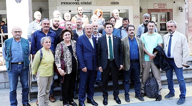 Milletvekilleri 'Yeşil Yol' davası için Rize'ye geldi
