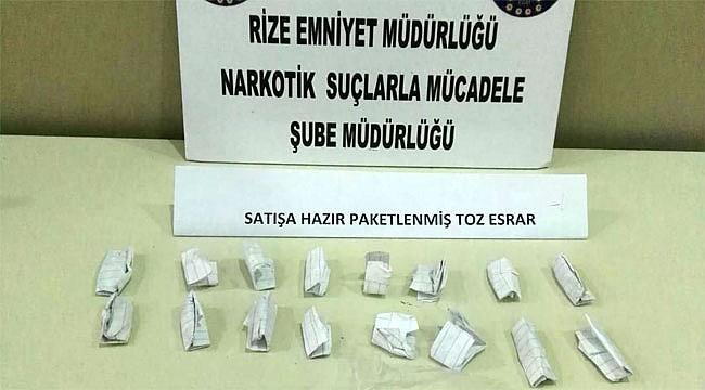 Rize'de uyuşturucu satan 3 torbacı tutuklandı