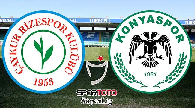 Çaykur Rizespor ile Atiker Konyaspor 32. randevuda