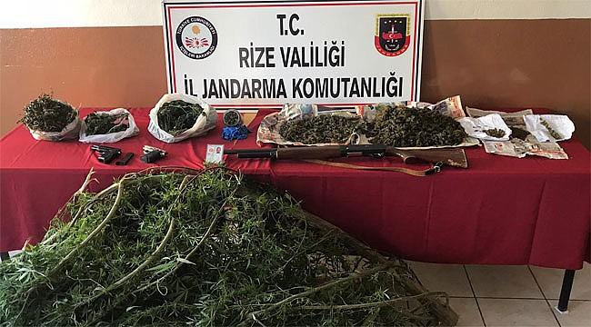 Rize'de uyuşturucu kaçakçılarına bir darbe daha