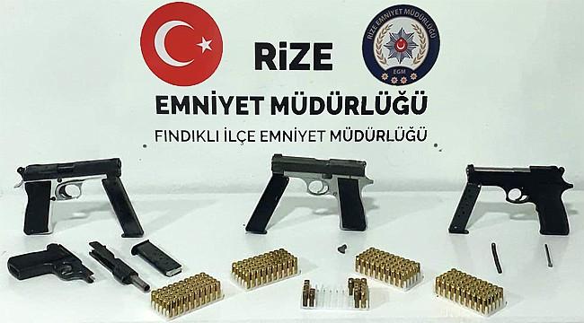 Fındıklı'da silah kaçakçısı 3 kişi yakalandı