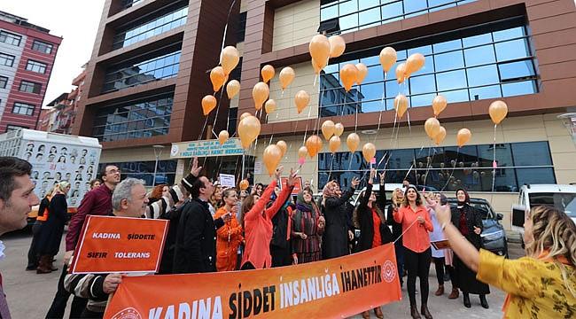 Kadına Şiddete Karşı Turuncu Balon etkinliği