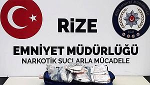 Rize'de uyuşturucu satıcısı 2 kişi yakalandı
