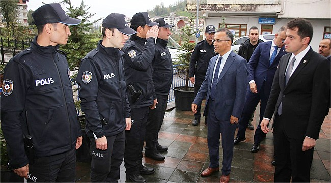 Vali Çeber, Kalkandere ve İkizdere'yi ziyaret etti