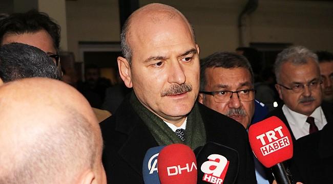Bakan Soylu Emniyet'teki silahlı saldırı nedeniyle Rize'ye geldi