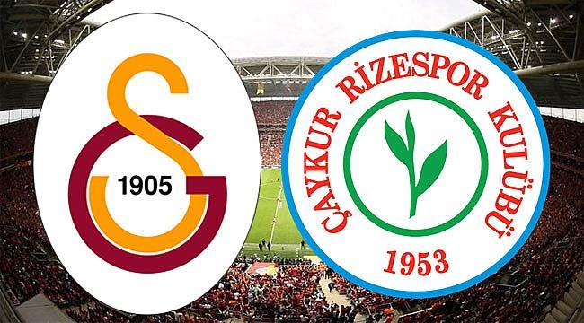 Çaykur Rizespor ile Galatasaray 38. randevuda