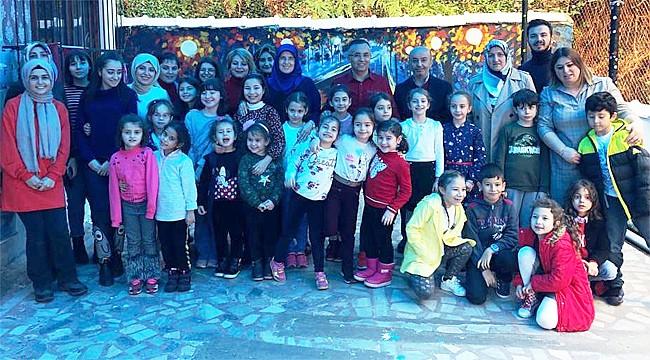 Vali Çeber, minik ressamlarla Yerli Malı Haftasını kutladı