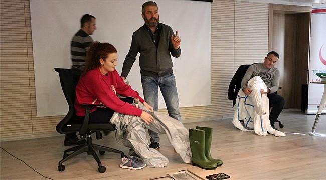 Rize'de Sağlık çalışanlarına 'KBRN' eğitimi verildi