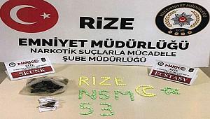 Rize'de uyuşturucu operasyonu: 1 kişi yakalandı