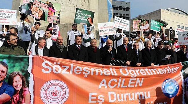 Türk Eğitim-Sen sözleşmeli öğretmenlerle eylem yaptı