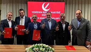 Yeniden Refah Partisi Rize'de 5 ilçe başkanını belirledi