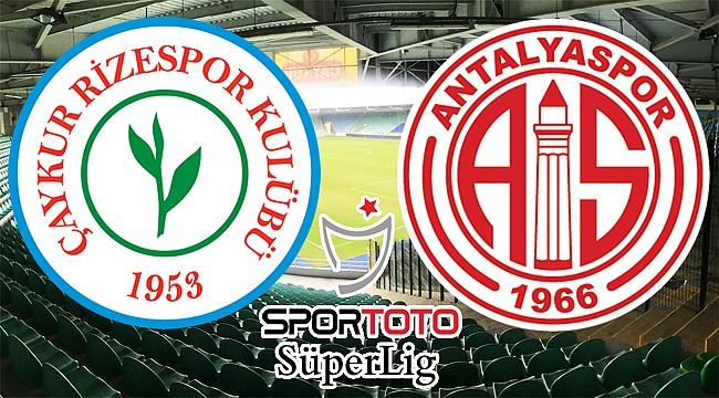 Çaykur Rizespor ile Antalyaspor 19. randevuda