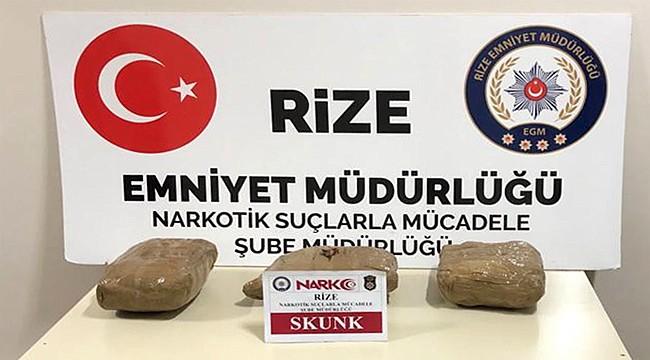 Rize'de 3 kilo esrar yakalandı: 2 kişi tutuklandı