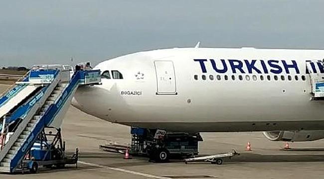 THY uçağının kokpit camı çatladı