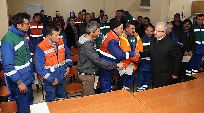 Başkan Kasap, belediye birimleriyle vedalaştı