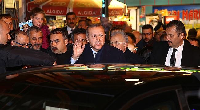 Cumhurbaşkanı Erdoğan Babaocağı Güneysu'ya geldi