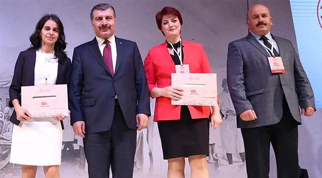 Rize'de Yılın Hekimi seçilen Doktorlar, ödüllerini aldı