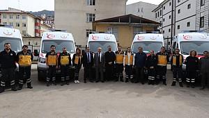 Rize'ye 5 yeni ambulans gönderildi