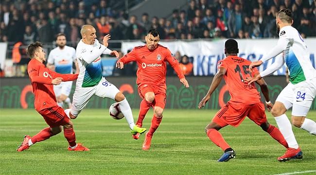 Çaykur Rizespor, Beşiktaş'tan fark yedi
