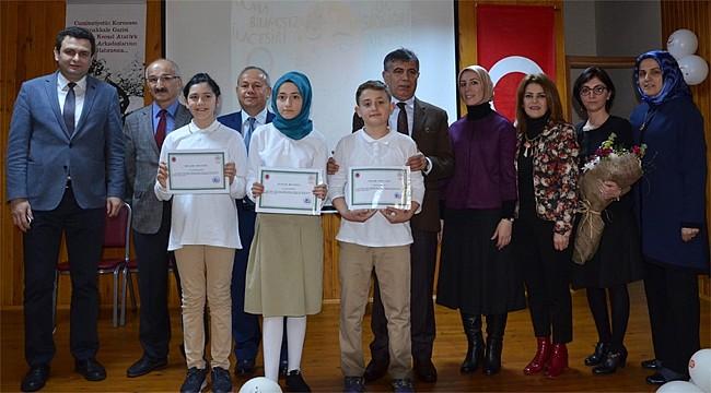 Rize'de afiş tasarım yarışması ödülleri dağıtıldı