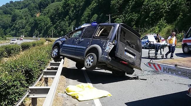 Pazar'da trafik kazası: 8 yaralı