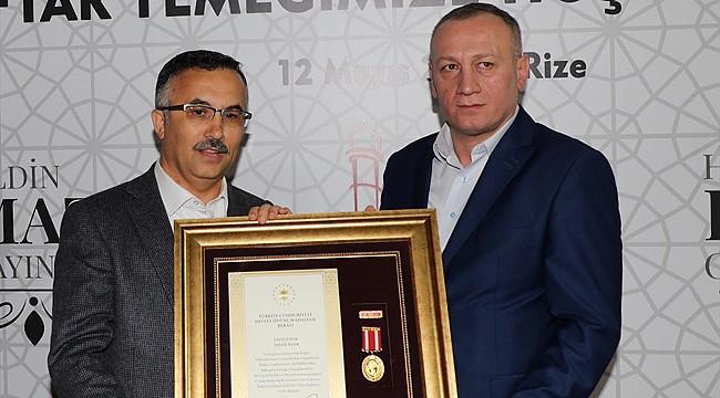 Rizeli Gazi'ye Devlet Övünç Madalyası ve Beratı verildi