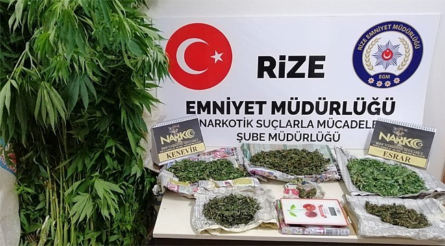 Ardeşen'de uyuşturucu operasyonu: 2 kişi yakalandı