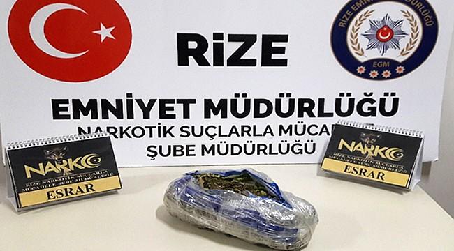 Fındıklı'da uyuşturucu taciri 3 kişi yakalandı