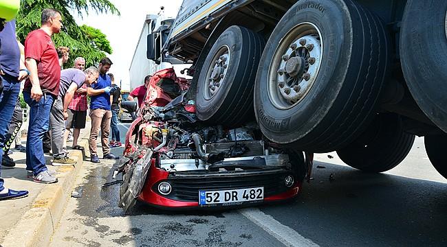 Trabzon'da feci kaza: 3 yaralı