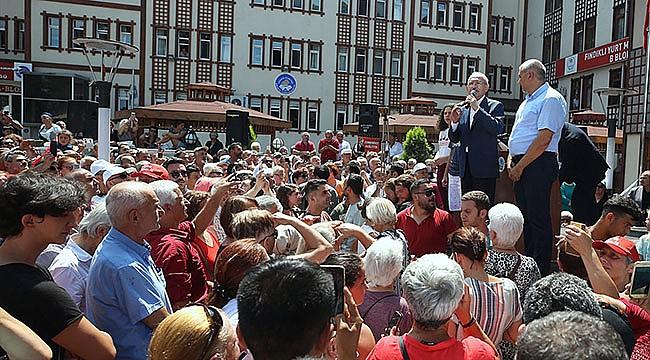 CHP Lideri Kılıçdaroğlu Fındıklı'ya geldi