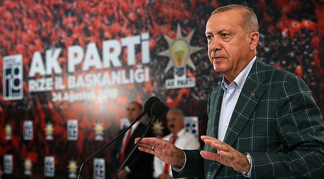 Cumhurbaşkanı Erdoğan: 'Rize bizi yalnız bırakmadı'