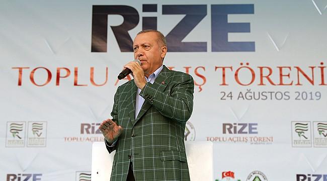 Erdoğan : 'Hemşehrilerim kendilerine yakışanı yaptılar'