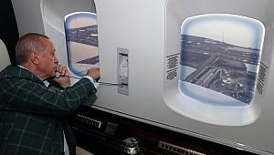 Erdoğan Rize Havalimanı inşaatını havadan inceledi
