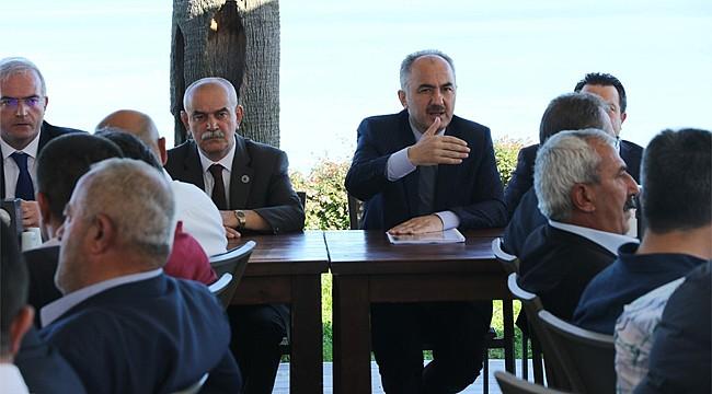Başkan Metin muhtarlarla istişare toplantısı yaptı