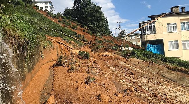 Rize'de şiddetli yağışlarda 100 ev hasar gördü
