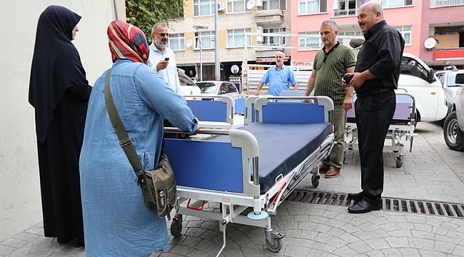 Rize'de yatalak hastalar için karyola desteği devam ediyor