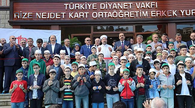 Rize Nejdet Kart Orta Öğretim Erkek Öğrenci Yurdu açıldı
