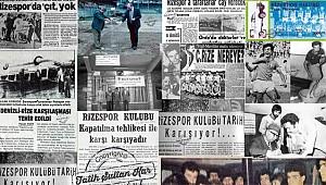 Çaykur Rizespor'da zor günlerin tarihi