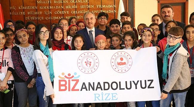 Elazığlı öğrenciler Rize'ye geldi